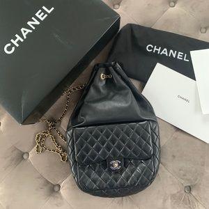 Chanel in Seoul black lambskin backpack